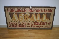 Lot 42 - A French advertising canvas inscribed...