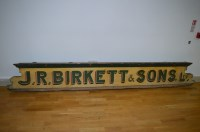 Lot 45 - A 19th Century painted wood shop advertising...