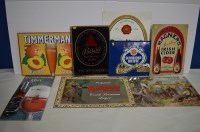 Lot 49 - Brewery tin advertising signs for; 'Budweiser';...