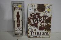 Lot 53 - The 'Waverley Pen' enamel advertising sign,...