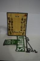 Lot 56-'Lipton's Tea' enamel advertising sign, in ''T'...