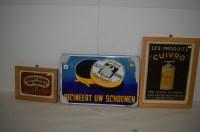 Lot 58 - 'Alle Kleuren Boor Polish' enamel advertising...