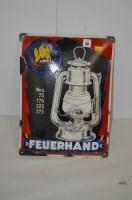Lot 59 - 'Feuerhand Storm Lantern' enamel advertising...