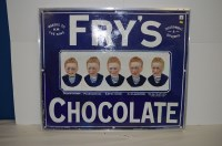 Lot 63-Fry's 'Five Boys' chocolate enamel advertising...
