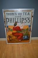 Lot 64-'Phillips's Tea' enamel advertising sign,...