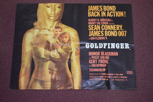 Lot 68-'James Bond Gold Finger' (1964) British Quad...