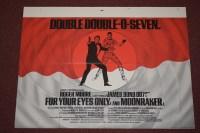 Lot 78 - 'James Bond' double feature British quad film...
