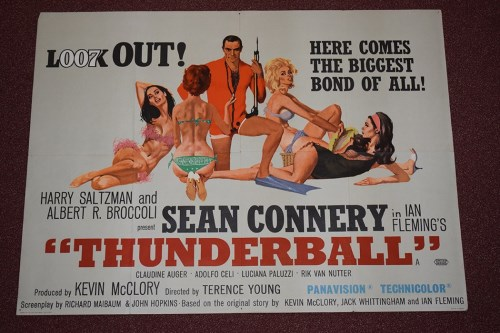 Lot 79-'James Bond Thunderball' (1965) British Quad film ...