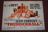 Lot 79 - 'James Bond Thunderball' (1965) British Quad...