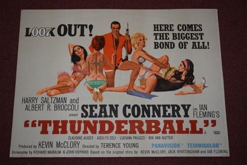 Lot 80-'James Bond Thunderball' (1965) British quad film ...