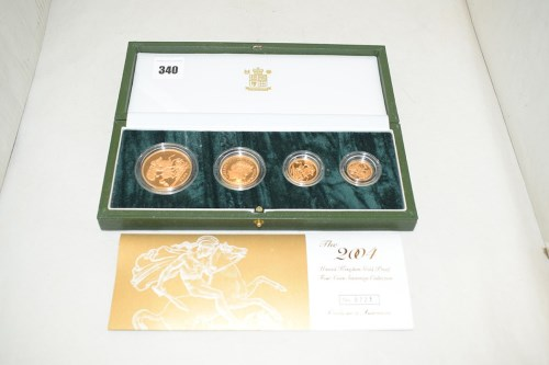 Lot 340-The 2004 United Kingdom gold proof four coin...