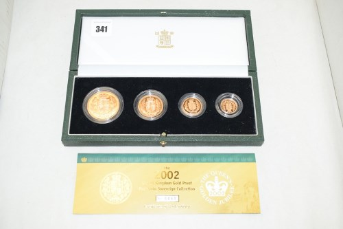 Lot 341-The 2002 United Kingdom gold proof four coin...