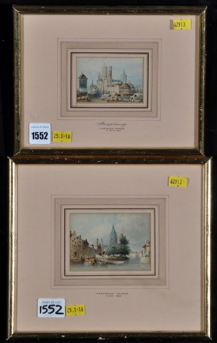 Lot 1552-Frederick Mercer - ''Strasbourg'', and a similar...
