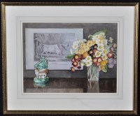 Lot 1633-Alice E*** Arthur - still-life with flowers and...