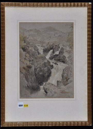 Lot 1664-Edmund Gill - ''Colwith Force, Westmorland'',...