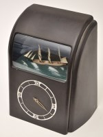 Lot 1044-An Art Deco rocking ship automaton clock, in...