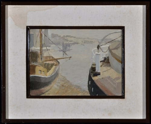 Lot 1256-Alan Stenhouse Gourley - ''Lowtide: The Medway'', ...