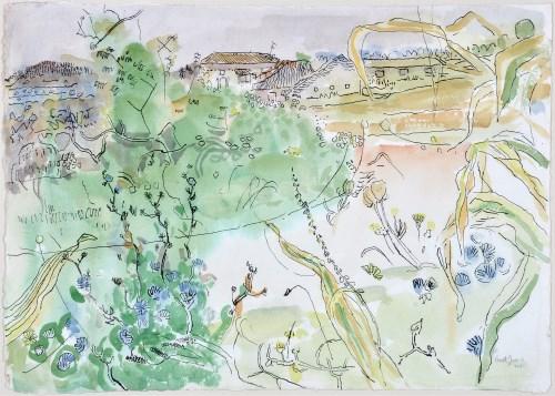 Lot 74-Anthony Gross, CBE, RA (1905-1984) ''Landscape:...