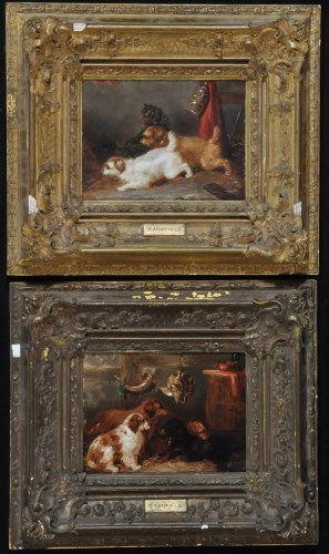 Lot 143-George Armfield (19th Century) Spaniels in a...