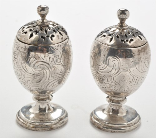 Lot 322-A 19th Century Indian silver salt and matching...