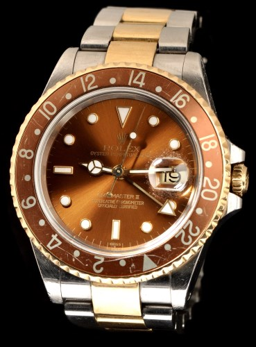Lot 332 - Rolex Oyster Perpetual Date GMT Master II: a...