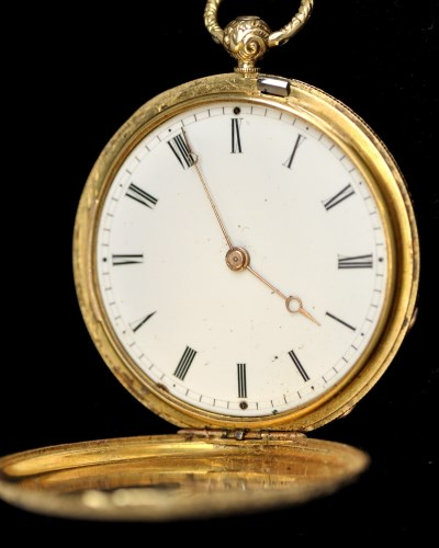 Lot 333-A 19th Century French hunter style gold pocket...
