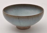 Lot 551 - Chinese Jun Yao bowl, conical form rising to...