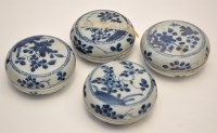 Lot 555 - Four Chinese blue and white 'Ca Mau Cargo'...