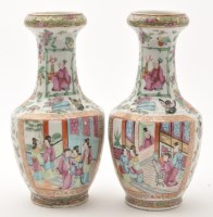 Lot 570 - Pair of Chinese Famille Rose Canton...