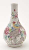 Lot 572 - Chinese Famille Rose pear-shaped vase, with...