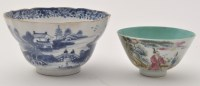 Lot 584 - Small Chinese famille rose tea bowl, with...