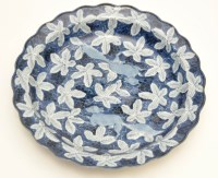 Lot 592 - Ming style blue and white 'squirrel and grape'...