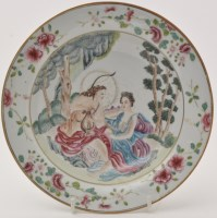 Lot 610 - Chinese famille rose 'European subject' soup...
