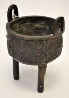 Lot 620 - Chinese bronze tripod censer, of archaic form,...