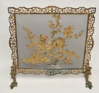 Lot 621 - Chinese gilt bronze firescreen, with Buddhist...