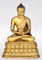 Lot 623 - Chinese gilt bronze figure of Buddha...