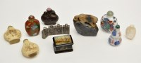 Lot 626 - Various Chinese snuff bottles, in cloisonne,...