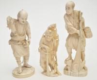 Lot 649 - Japanese ivory Meiji period okimono of a...