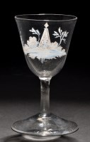 Lot 659 - Attributed to Beilby: white enamelled wine...