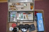 Lot 150-A PLANO tackle box containing various fishing...