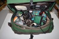 Lot 168-A ''WOODRIVER'' fisherman's tackle bag,...
