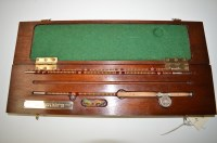 Lot 260-A miniature split cane three-piece fishing rod...