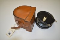 Lot 269-An alloy 4 1/2in. salmon fly fishing reel with...