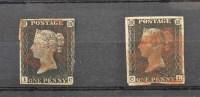 Lot 123-GB 1840 1d. black, IC, three margins with light...