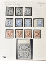Lot 155-GB 1939, high value definitives, from 2s.6d....