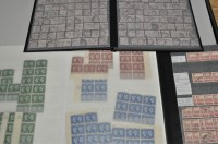 Lot 175-GBQV 1d. reds; GVI 1940 Centenary blocks from...