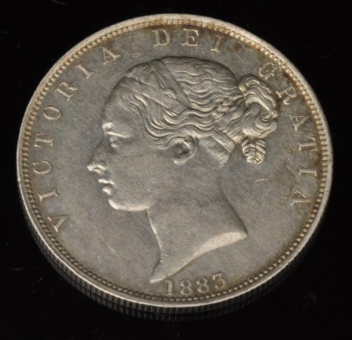 Lot 361-A Queen Victoria half crown, 1883, type A5, S3889....