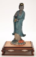 Lot 64-Fine Chinese lacquer figure of Guanyin, marked...