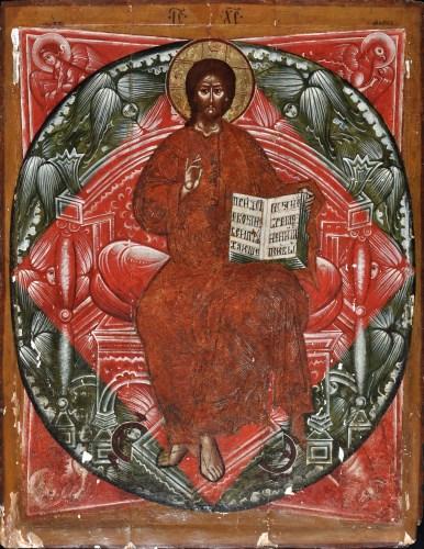 Lot 368 - Russian School An ikon depicting St. Mark...