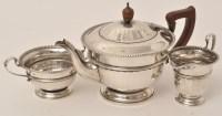 Lot 416 - A George V three-piece silver tea service, by...